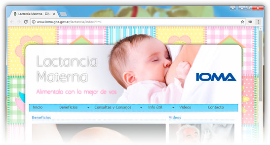 Clck para acceder al micrositio de lactancia materna